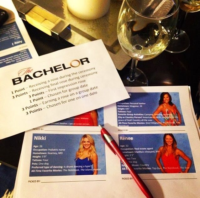 Inspired by Morning: The Bachelor Fantasy Draft- if you watch the Bachelor, you HAVE to check out this game! @Allison Haskell