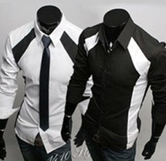 Men's Casual Luxury Stylish Slim Long Sleeve Shirt     Camisa Hombre de Lujo, Casual Camisa de Manga Larga