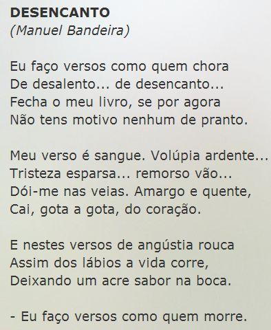 Desencanto, Manuel Bandeira