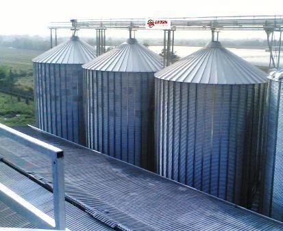 Vista Silos Stoccaggio  Cereals Storage Silos