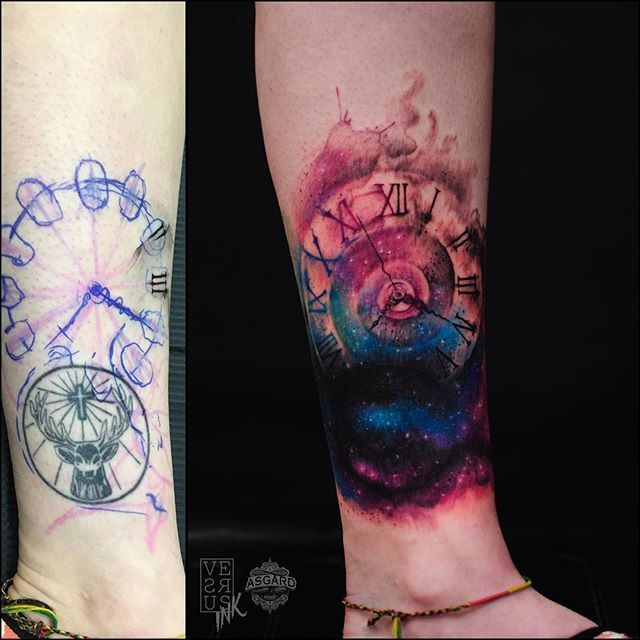 Before and after of this cover up I did a few months ago. Done at @asgardsouthampton