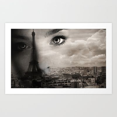 """Face of Paris"" art print"