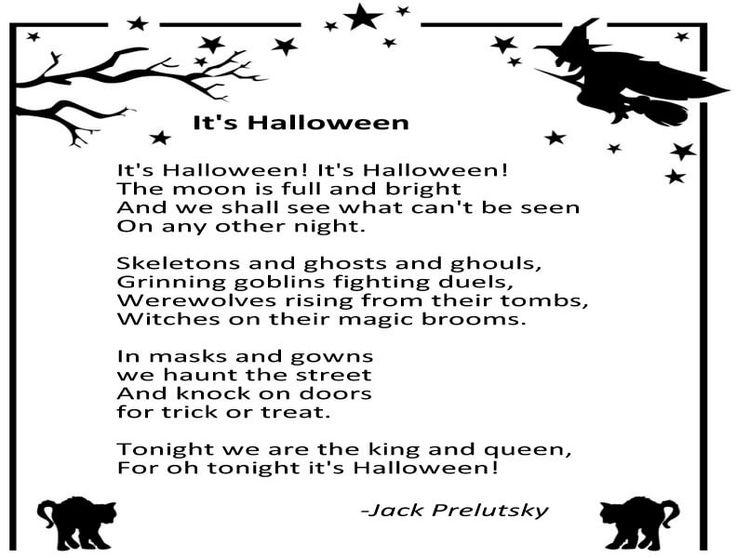 halloween poems or songs
