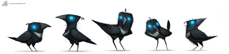 Daily Paint 778. Sidhe - Magpies by Cryptid-Creations.deviantart.com on @DeviantArt