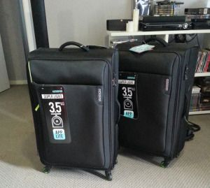 American Tourister luggage. Ready for the move.