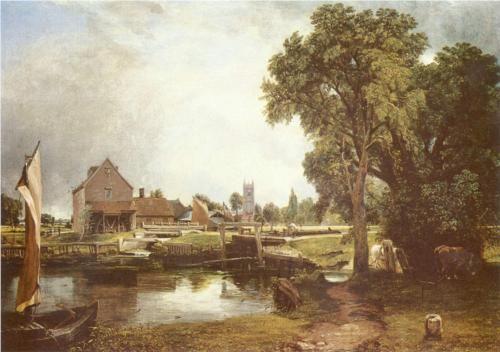 John Constable - Dedham Lock and Mill