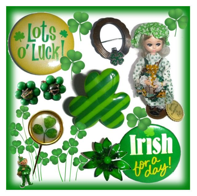 Vintage St Patrick's Day! 🍀💚☘ by popcornvintagebytann on Polyvore featuring polyvore vintage fashion style clothing
