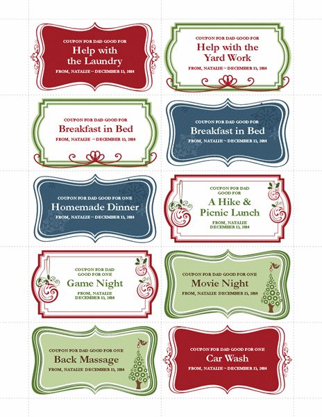 29 best images about gifts on Pinterest - coupon template free printable