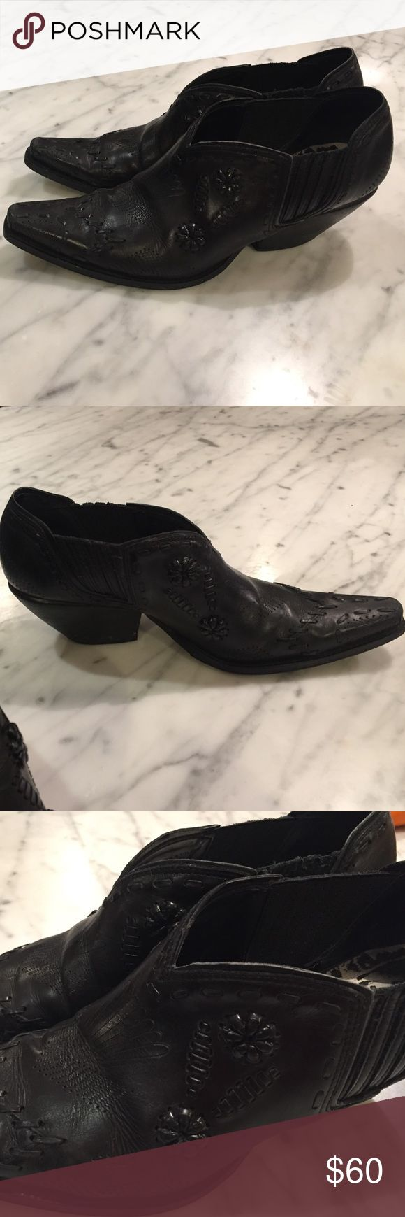 Short cowboy boots These black low boots are fun and very comfortable! Soles were recently replaced and leather has no damage. EUC!! BCB Girls Shoes Ankle Boots & Booties