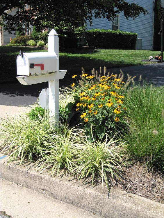 landscaping around mailbox | img 0285 225x300 Mailbox Garden Idea #2: Triangular Garden for Amazing ...