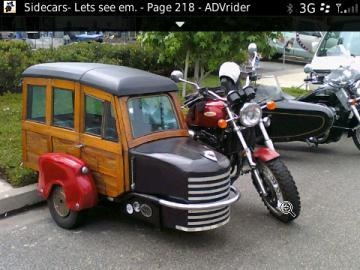 Woody side car to match my woody car one day