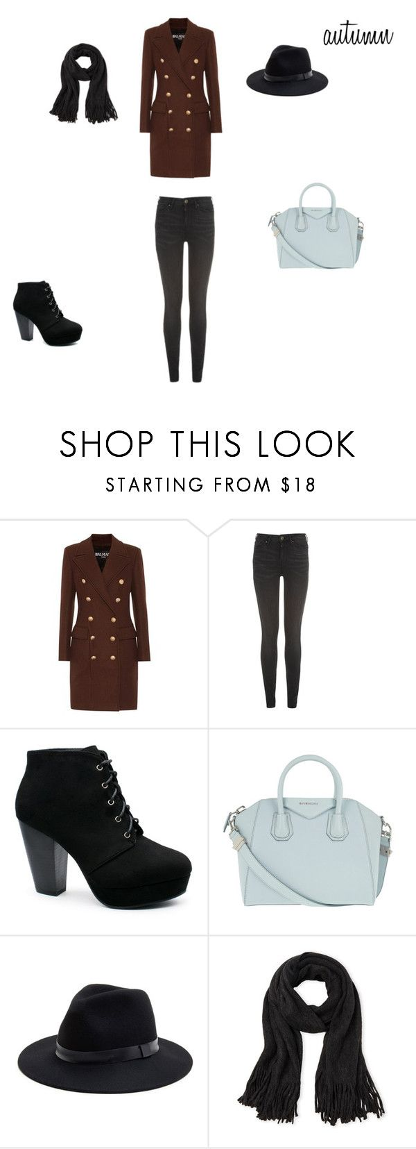 autumn by zuzia-apanasewicz on Polyvore featuring moda, Balmain, Tommy Hilfiger, Givenchy, Sole Society and Steve Madden