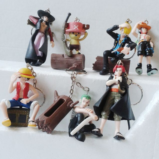 7pcs One Piece Luffy Zoro Ace Keychain Pendant //Price: $23.00 & FREE Shipping //     #onepieceluffy #onepiecefigure #dluffystore