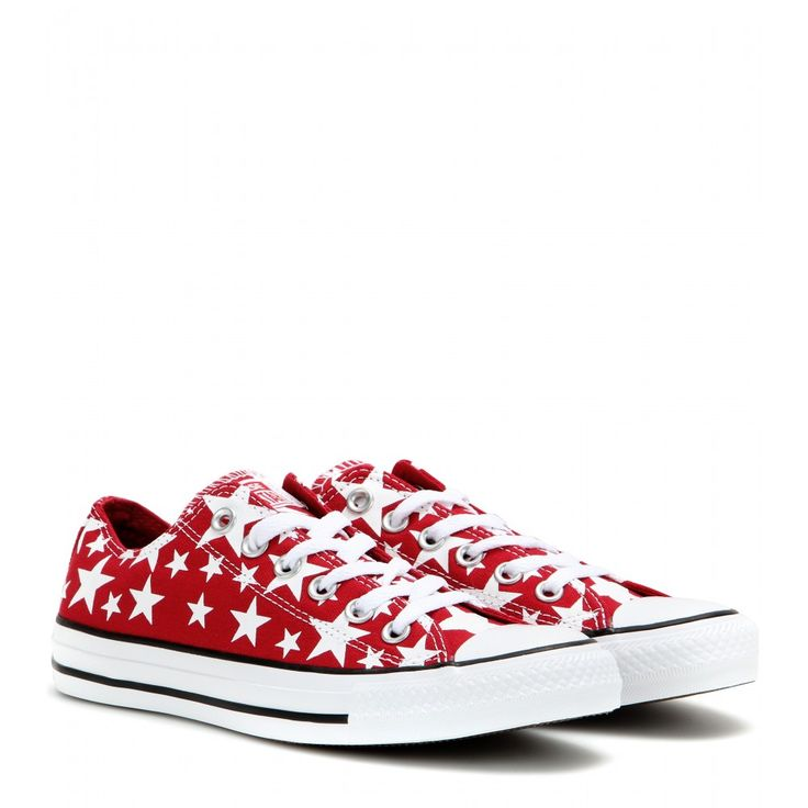 Give your edit of Converse sneakers an on-trend update with this printed  design. Stars adorn the red canvas upper, making this comfortable design a  go-to ...
