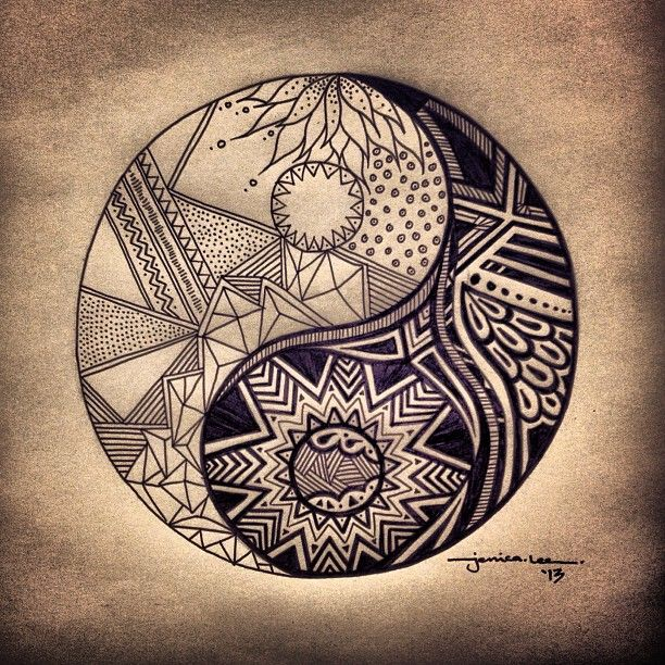 Ying-yang; the balance of life #illustration #yingyang