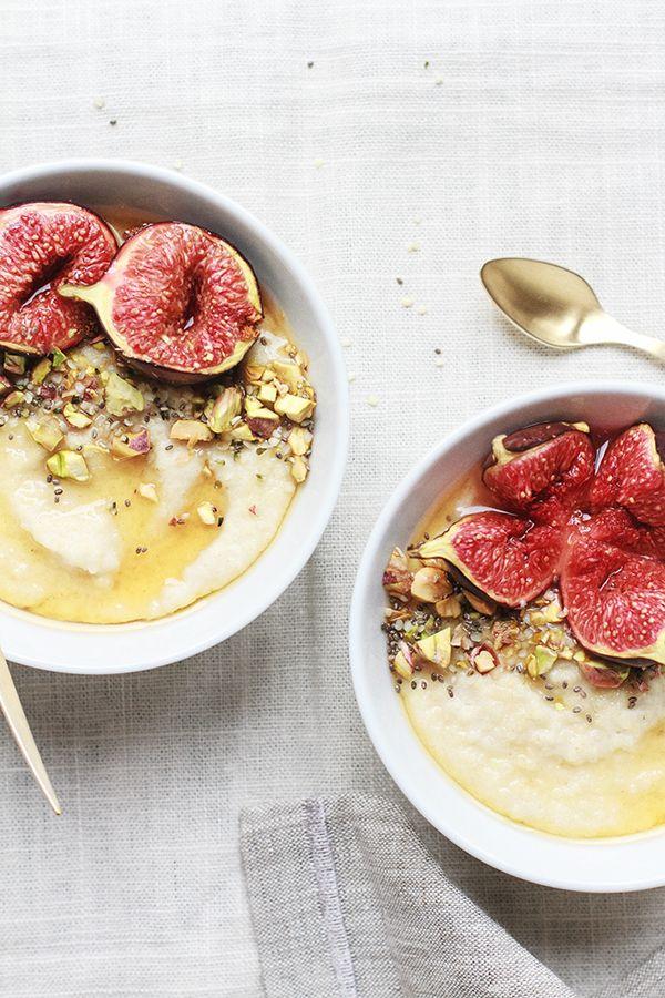 Roasted Fig + Honey Millet Porridge | Fig + Honey