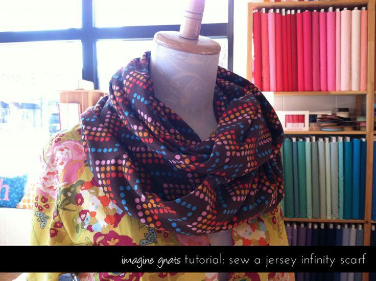tutorial: jersey infinity scarf - imagine gnats