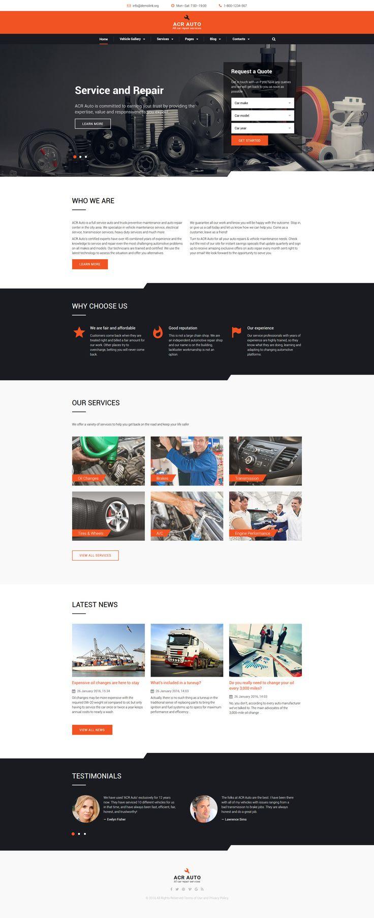 Acr auto website template
