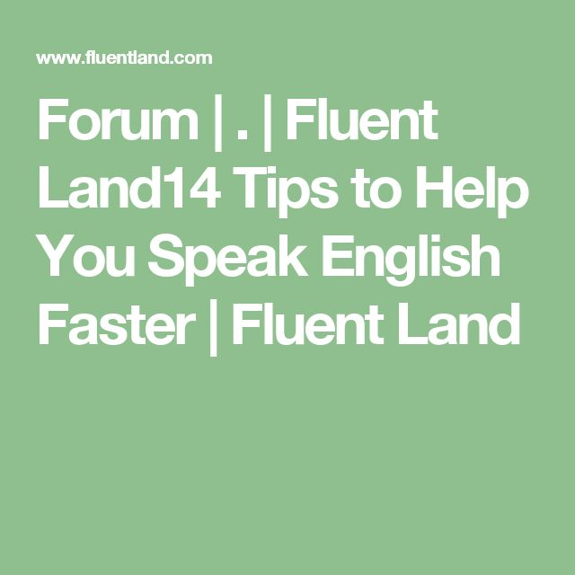 Best English Pronunciation Lesson: Speak Fluent English ...