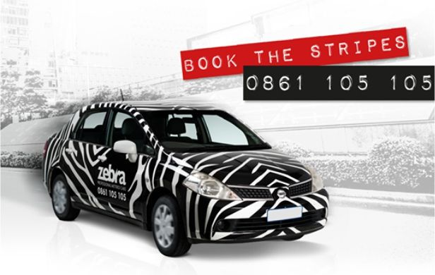 Welcome to Zebra Cabs! We're all about taking you places - safely, on time, and in the coolest cabs around. Give us a call and we'll send you the stripes!
