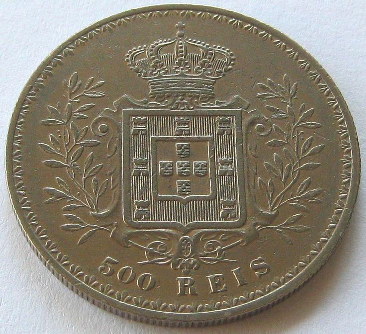 Portugal, Silver Coin, 500 Reis 1896, TOP High Grade !