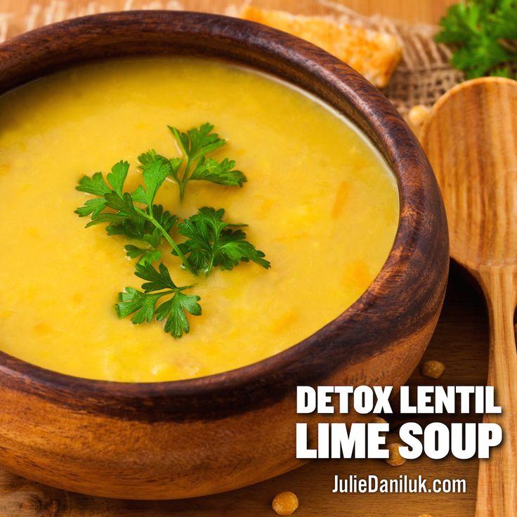 Detox Lentil-Lime Soup | #MealsThatHeal