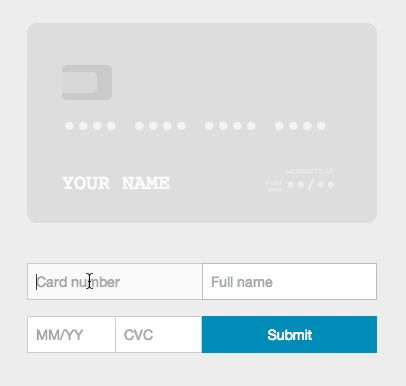Card – A better credit card form in one line of code | Designbeep