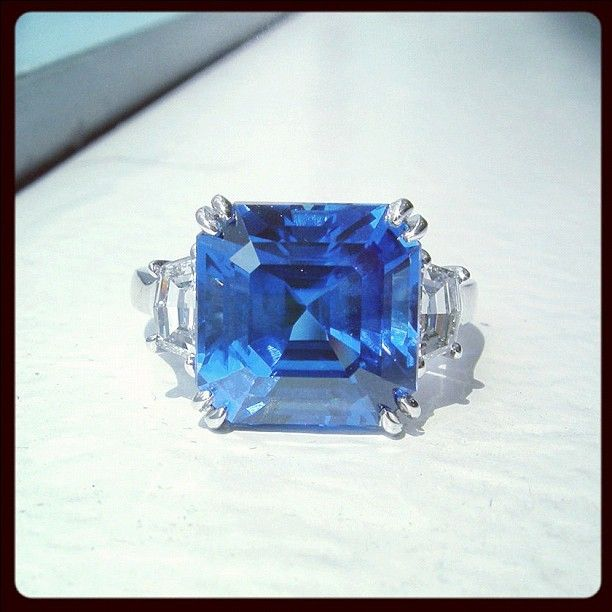 what i love when it comes to fine jewelry, sapphires in asscher-cut!