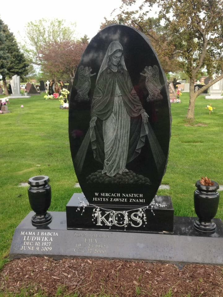 At Resurrection Catholic Cemetery And Mausoleums In Justice Illinois Usa Headstones Cemetery Photo
