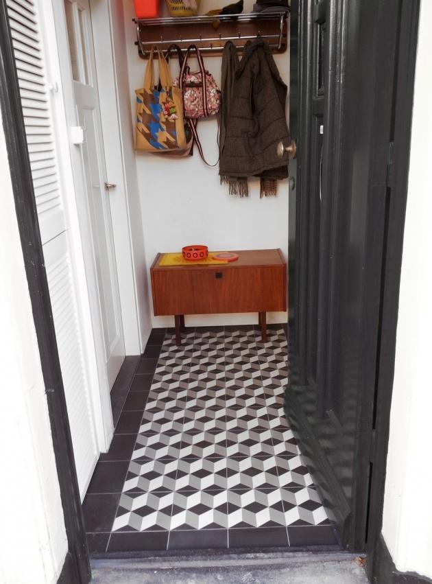 VN kwart gris. Via designtegels.nl. Escher tegel