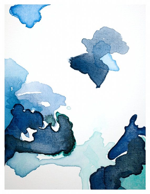 Large Abstract Art Print Navy Blue Abstract door LikeWilliamStudio