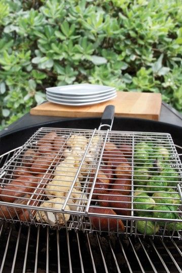 Stainless Steel 4-Compartment Grill Basket