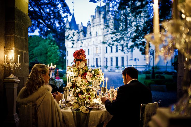 good night bride | Night wedding ceremony for a fairytale at Chateau Challain