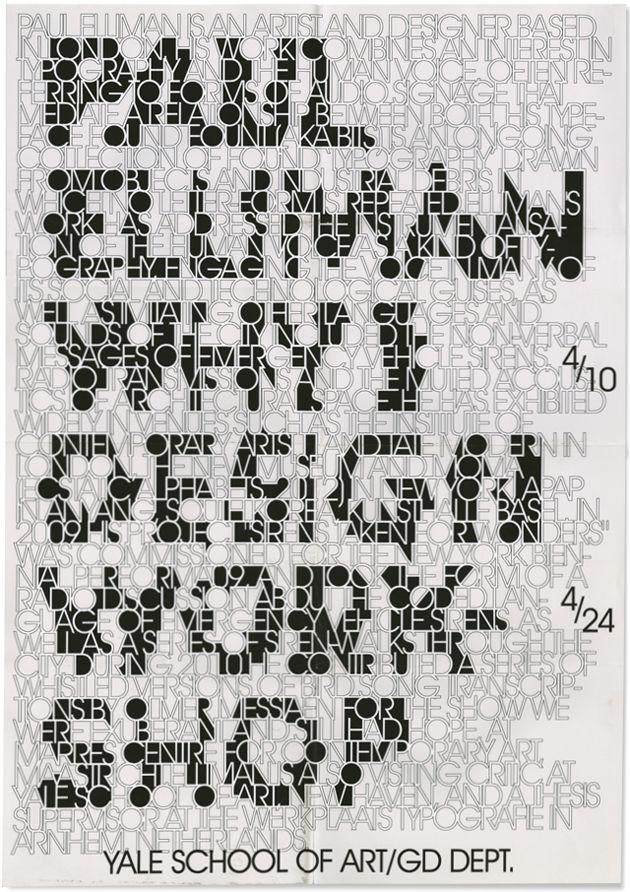 Paul Elliman poster by Jangs Müller/ Jang Hyun Han