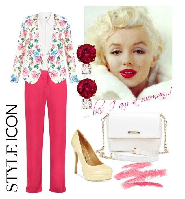 """""""I wear pink...bcs I am a woman !"""" by tanya-dayal on Polyvore featuring Balmain, New Look, Jemma Wynne, Chinese Laundry and IWearPinkFor"""