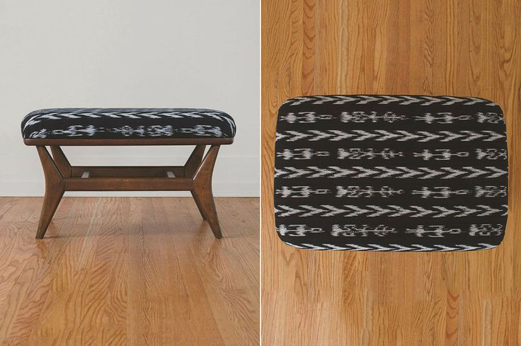 Hs Collection Ikat Ottoman Ikat Foot Rest And Ottomans