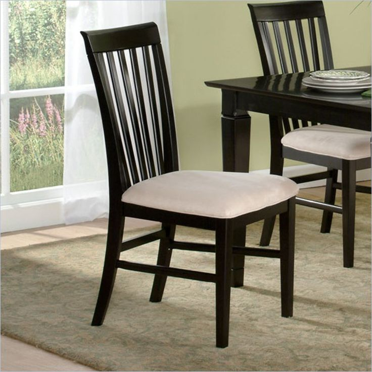 Atlantic Furniture Mission Dining Chair in Espresso  Set of 2 23 best Dining Room Chairs images on Pinterest   Dining room  . Low Price Dining Chairs. Home Design Ideas