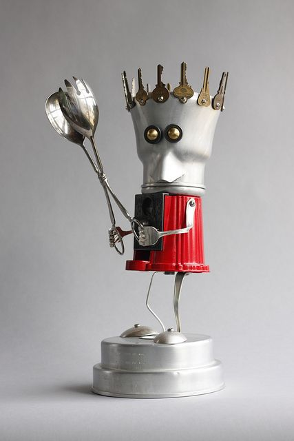 Spork 1 - found object robot assemblage sculpture by brian Marshall | Flickr - Photo Sharing!