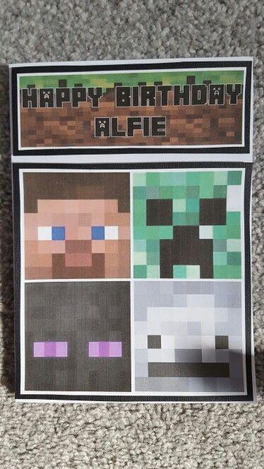 Minecraft birthday card