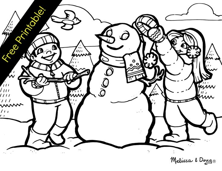 winter themed coloring page_snowman free coloring pagescoloring