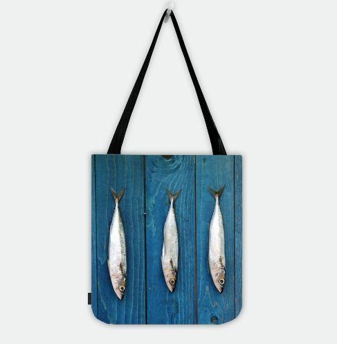 Three Fishes Shopper Tote Bag.