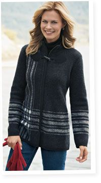 Pendleton Woolen Mills: Sweater coat    Fashion Style for women over 50