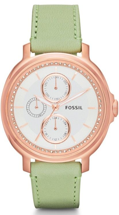 Women's Chelsey Multifunction Leather Watch - Sage