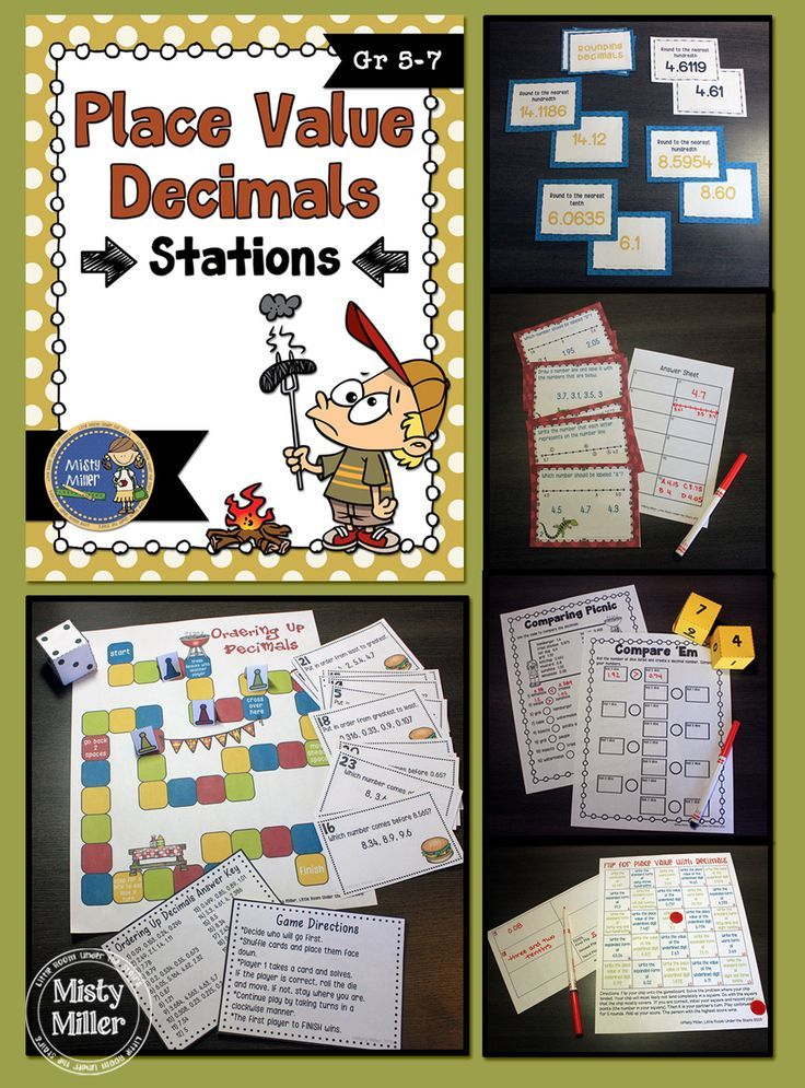 Place Value with Decimals Stations will give your students an opportunity to practice comparing, ordering and rounding decimals, identifying decimals on number lines, and working with place values with decimals. This station pack includes 5 activities relating to the concept of place value with decimals. The activities are perfect for setting up as stations around the room. $ gr 5-7: Place Value with Decimals Stations will give your students an opportunity to practice comparing, ordering and…