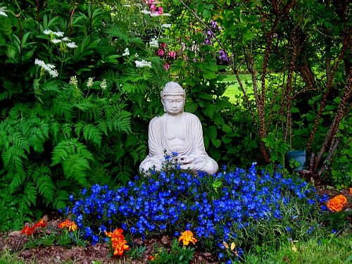 I Have A Garden Bhudda Too. Someday The Foliage Around It Will Be This Lush