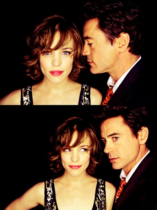 Rachel McAdams & Robert Downy Jr... Think this would be a cute couple photo .