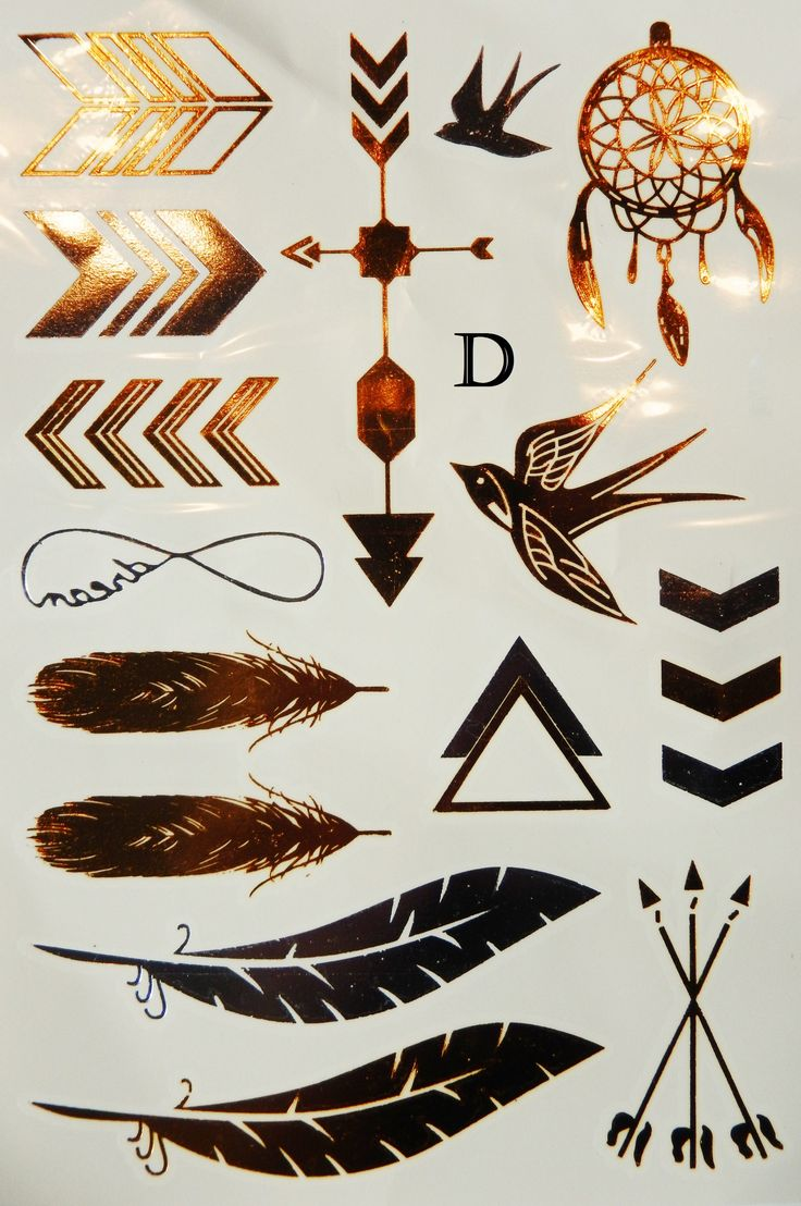 Metallic Gold and Silver Temporary Flash Tattoos