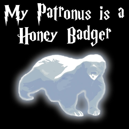 """""""My Patronus is a Honey Badger"""" T-Shirts & Hoodies by nettraditions 