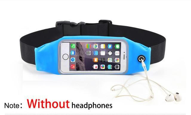 Universal Waterproof Sport GYM Waist Bag Phone Case for iPhone 7 6 6S Plus SE 5G 5C 4G Outdoor Workout Running