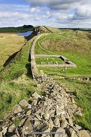 Hadrian's Wall, Northumberland, UK. Left behind by Roman emperor Hadrian.